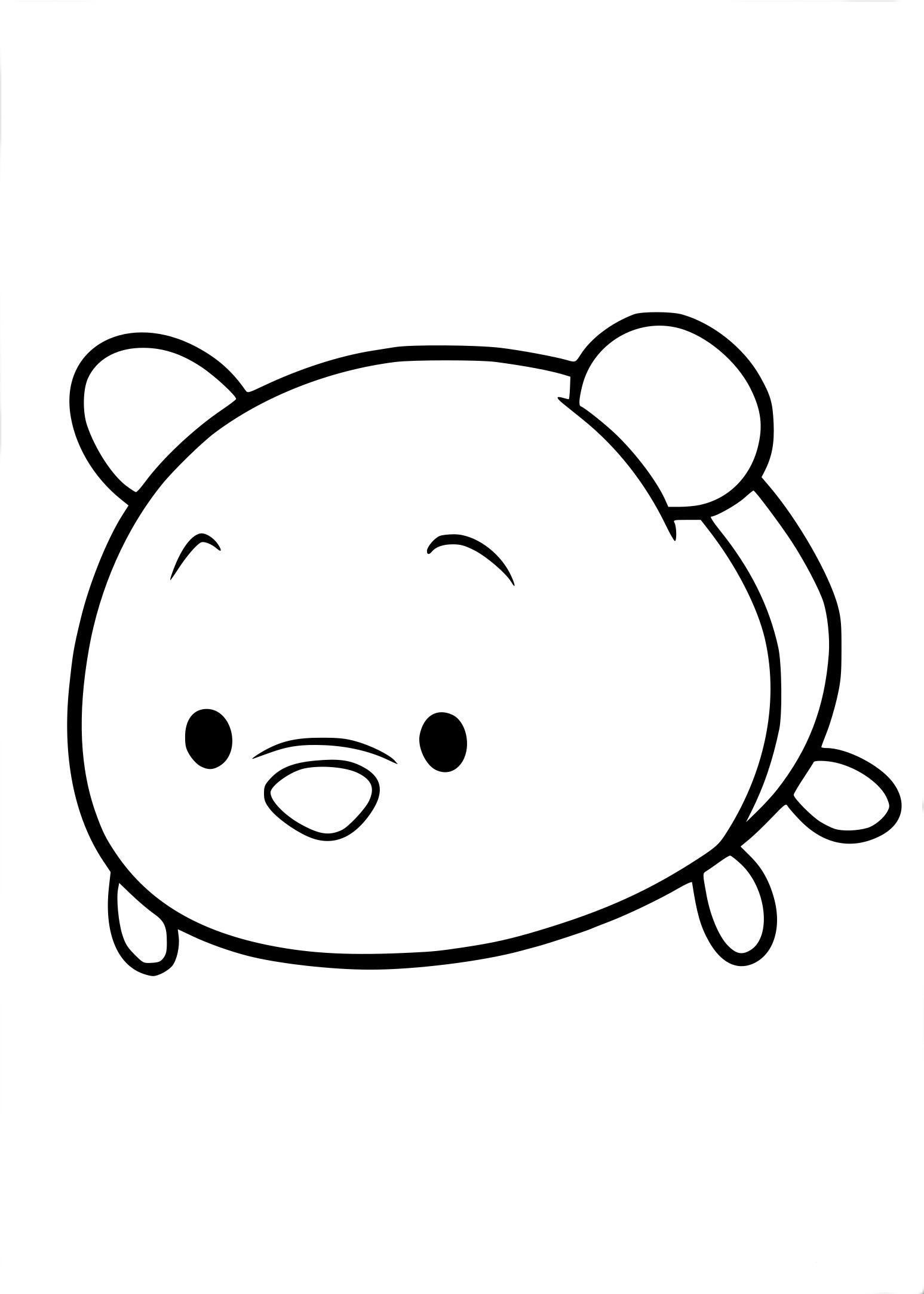 Coloriage Tsum Tsum Winnie à Imprimer