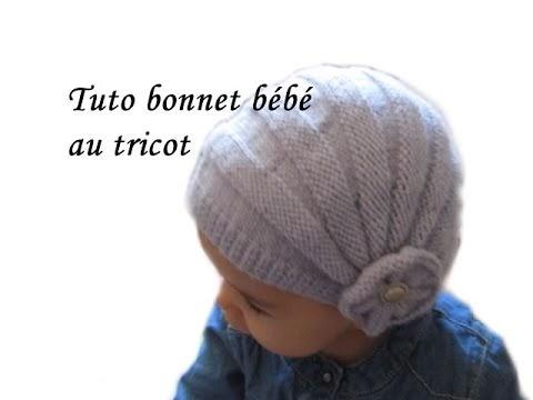 les tutos de fadinou tuto bonnet bebe style charleston au tricot. Black Bedroom Furniture Sets. Home Design Ideas