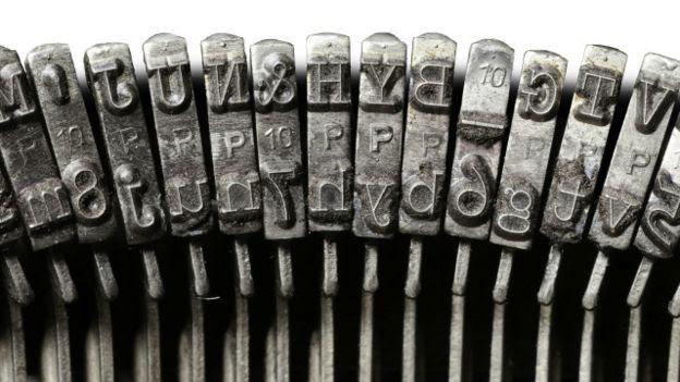 Teclas de una máquina de escribir