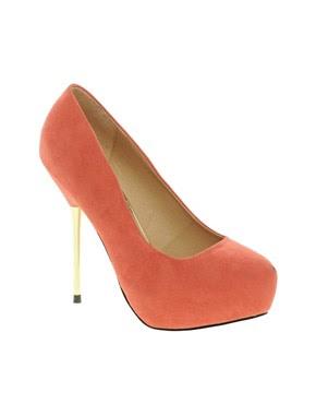 Image 1 ofASOS PADLOCK Platform Court Shoes with Metal Heel