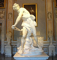 David - Gianlorenzo Bernini 1623 - Galleria Borghese, Rome
