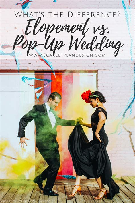 elopement  pop  wedding whats  difference