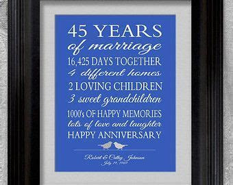45th Wedding Anniversary Gift for Parents by