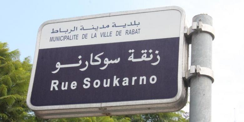 Jalan Soekarno di Maroko.