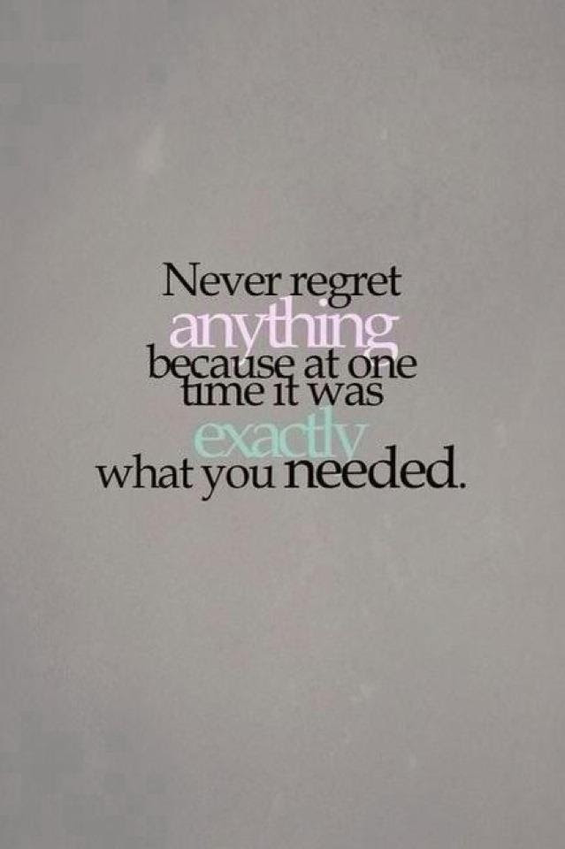 Quotes About Never Regret Anything 36 Quotes