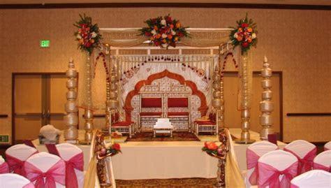 Indoor mandap.   Ceremony Decor   Table Decorations