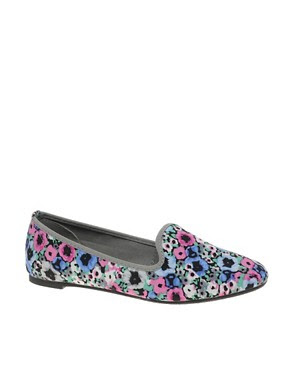Image 1 ofASOS LEON Slipper Shoes With Floral Print