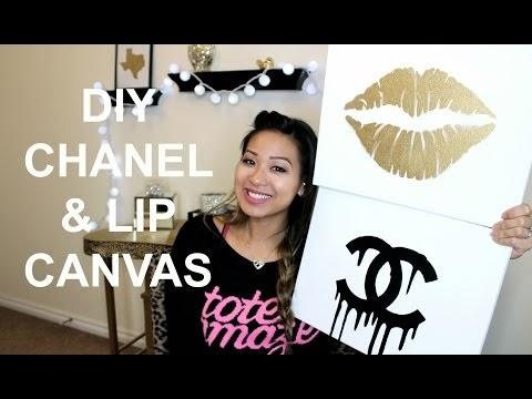 Makeupbyxtinaa Diy Room Inspiration Chanel Amp Gold Lips