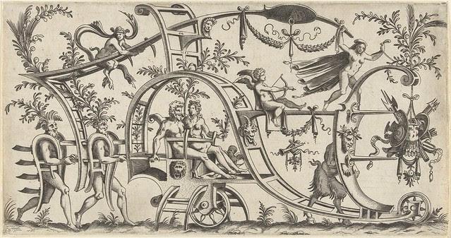 De wagen wordt getrokken door...1550