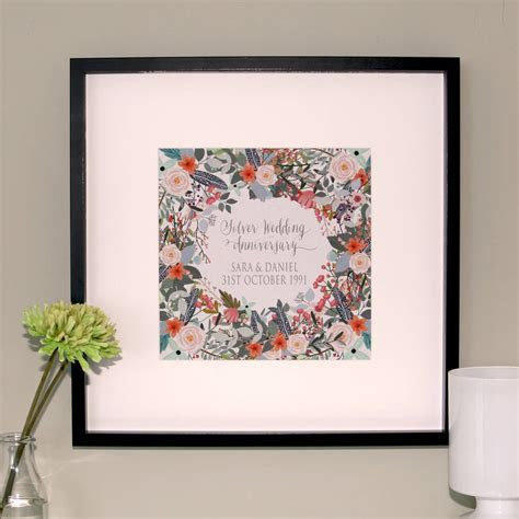 silver wedding anniversary canvas print by hopsack & olive