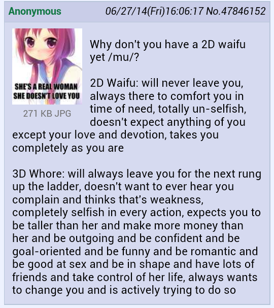Shes A Real Woman She Doesnt Love You 4chan