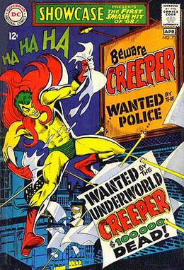 The Creeper in Showcase #73 (April 1968). Cove...