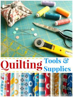 Basic Quilting Tools and Supplies..   one day, one day!