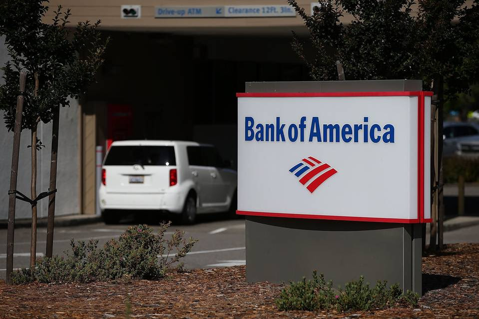 Bank of America shares slid more than 4% Thursday.