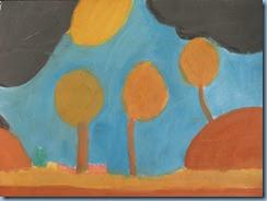 Δάσος. Ζωγραφική με τέμπερες, λαδοπαστέλ, ακουαρέλα (1)