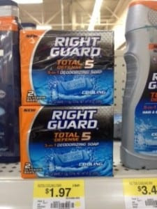 Right Guard Right Guard Total Defense 5 Soap: $1 off Coupon Makes it Just 97¢ at Walmart