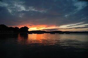 Sunset in Chalkidiki, Greece.