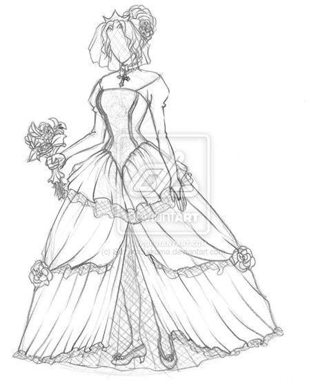 How To Draw A Wedding Dress For Beginners   Drawing and