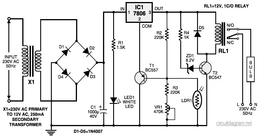 emergency light circuit diagram pdf