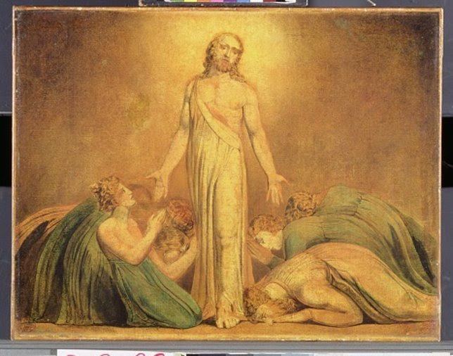 Cuadro de William Blake 'Cristo resucitado apareciéndose a los apóstoles'