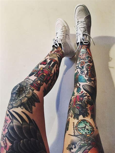 awesome leg sleeve tattoos design bump