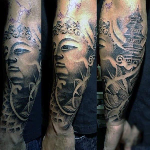 100 Buddhist Tattoos For Men Buddhism Design Ideas