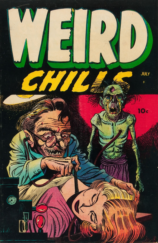 Weird Chills #1 Bernard Bailey Cover (Key Publications, 1954)