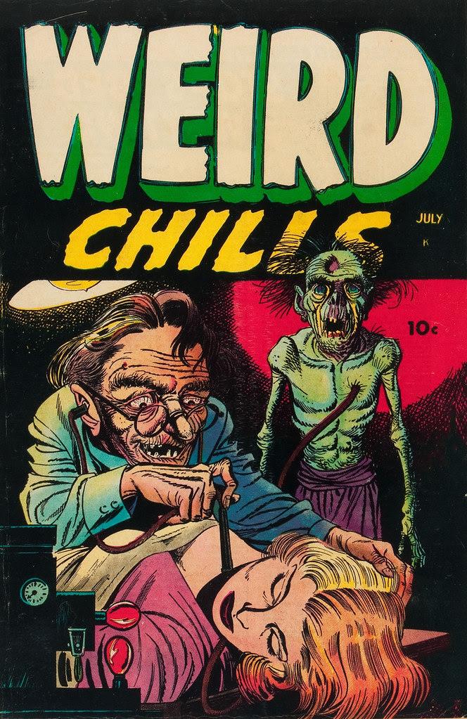 Weird Chills #1 Bernard Bailey Cover (Key Publications, 1954)