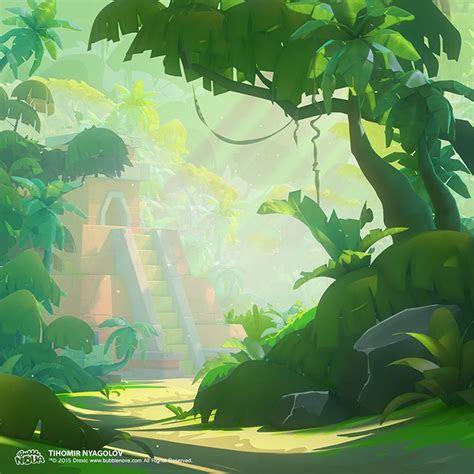jungle game art concept designs colorful environments