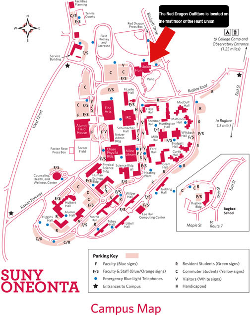 Suny Oneonta Campus Map Gadgets 2018: Suny Oneonta Map
