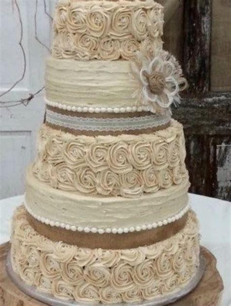 rustic wedding cake topper set   burlap flowers