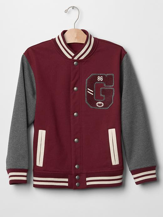 Gap Boys Logo Varsity Jacket Size XL - Red delicious