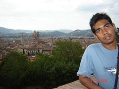 Pemandangan Kota Florence Dari Atas Boboli Garden, Florence, Italy