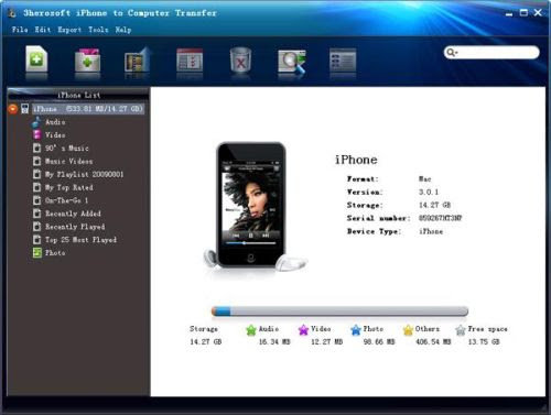 3herosoft iPhone to Computer Transfer 3.5.1.1225 Portable