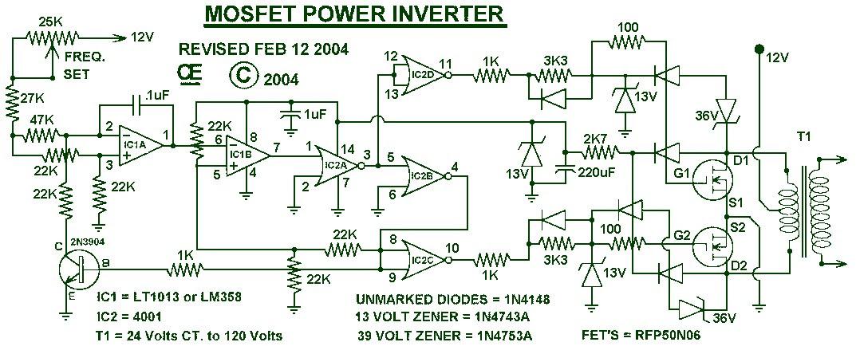 Inverter 12v 220v 1000w Schematic