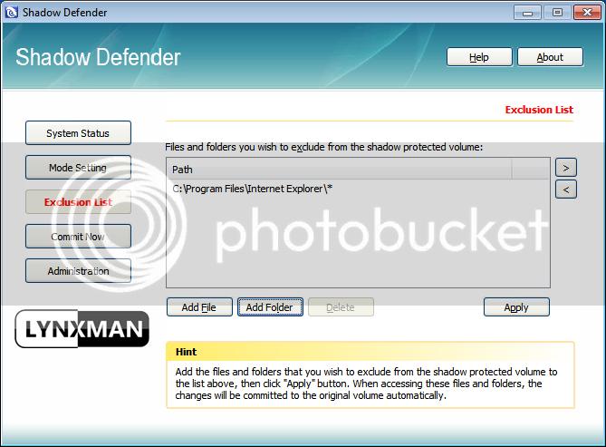 برنامج Shadow Defender لتجميد النظام 8-5.png