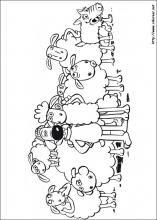Dibujos De La Oveja Shaun Para Colorear En Colorearnet