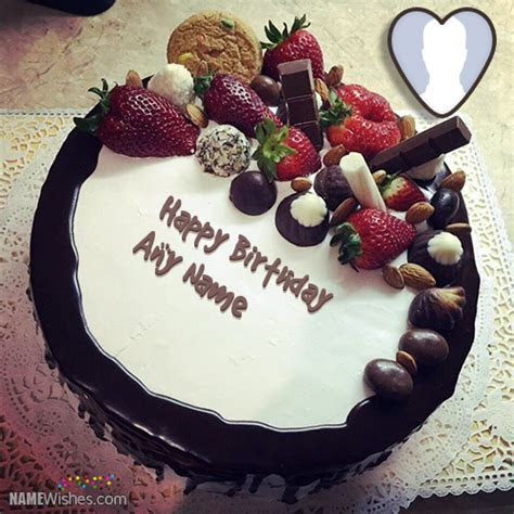 Fruity Chocolate Birthday Cake With Name