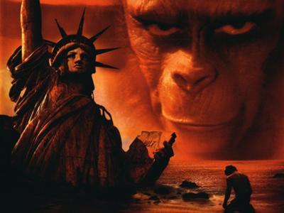 一時期猿の惑星のdvdのパッケージイラストがこのラストシーンだった