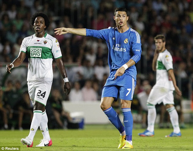 Put it there: Real Madrid had to cope without world-record signing Gareth Bale at Elche