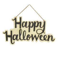 Spritz 'Happy Halloween' Cut Out Wooden Sign