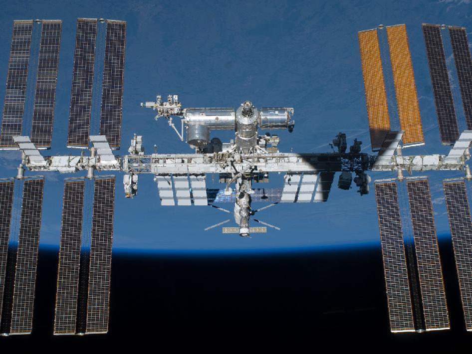 The International Space Station is featured in this image taken after Endeavour's departure