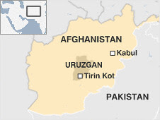 Map of area where a bomber killed 21 policemen in Afghanistan. Despite US administration plans to deploy another 30,000 troops, the American public is beginning to seriously question what the government really wants to achieve in this Asian nation. by Pan-African News Wire File Photos