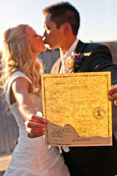 ALWAYS get a pic with your Marriage License RIGHT AFTER