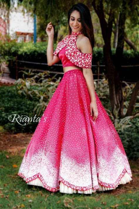 cape style crop top and skirt by Rianta's   Lehengas in