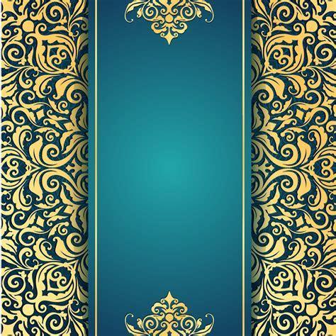 Arabesco Floral Padrão SEM costura Background Retro Papel