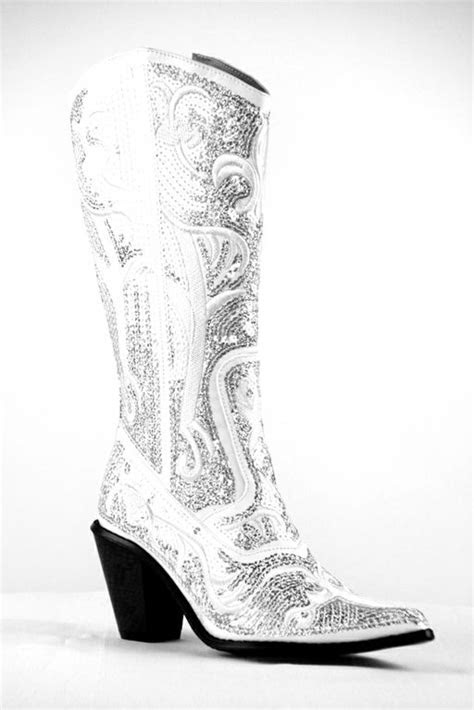 helens heart bling cowboy boots  white   order