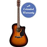 Fender CD-60CE Dreadnought Cutaway Acoustic-Electric Guitar with Gear Guardian Extended Warranty - Sunburst