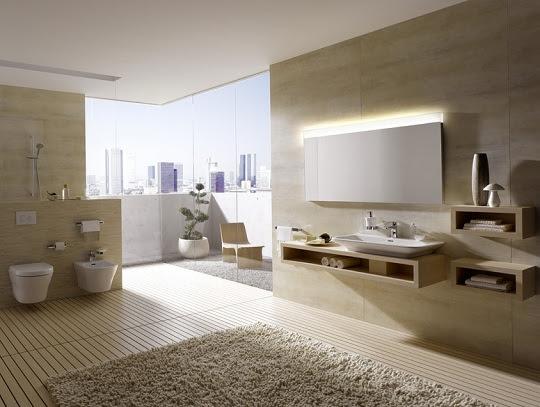 Moderne Badezimmer mit minimalistischem Design  TOTO