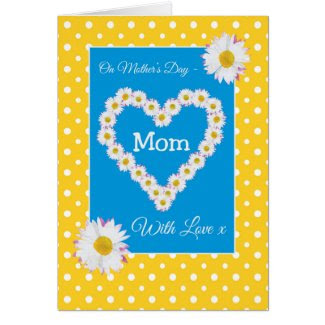 Pretty Mother's Day Card: Daisychains, Polka Dots